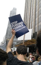 fossil divestment at the trump plaza