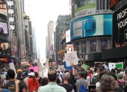 times square climate march