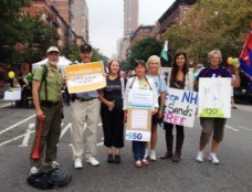 RM Allen, center, at people's climate march 2014