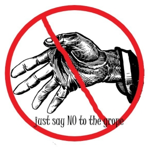 no groping sign